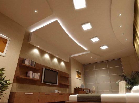Подвесной потолок из гипсокартона для дома и офиса